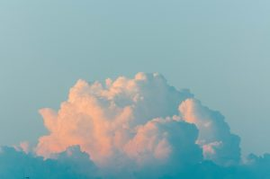 Fluffy cloud on blue sky